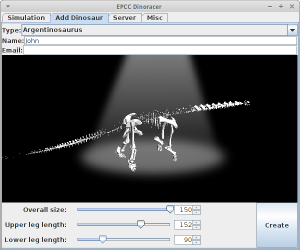 Creating a dinosaur; now as simple as clicking on sliders