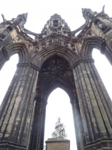 Scott Monument seen from the ground.