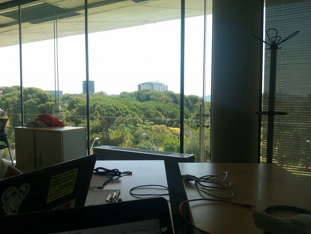 The view from the office