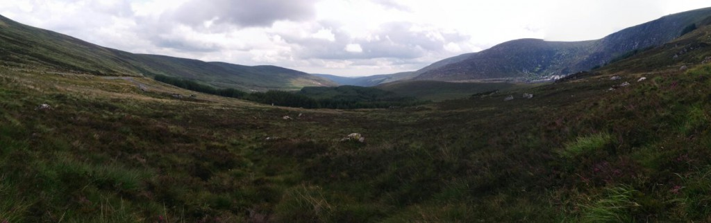 Overview at the top of Wicklow National Park