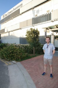 Me in front of the Cyprus Institute