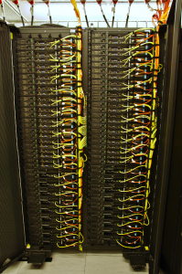 One rack of the Cy-Tera supercomputer.
