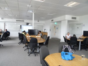The lecture room at EPCC where the training took place