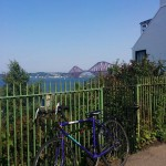 Cycling to Queensferry.