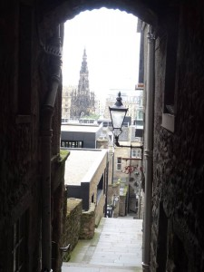 Look through one of the closes branching off the Royal Mile