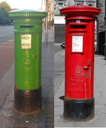 The UK and Ireland - worlds apart (red postbox from https://flic.kr/p/6gveP7)