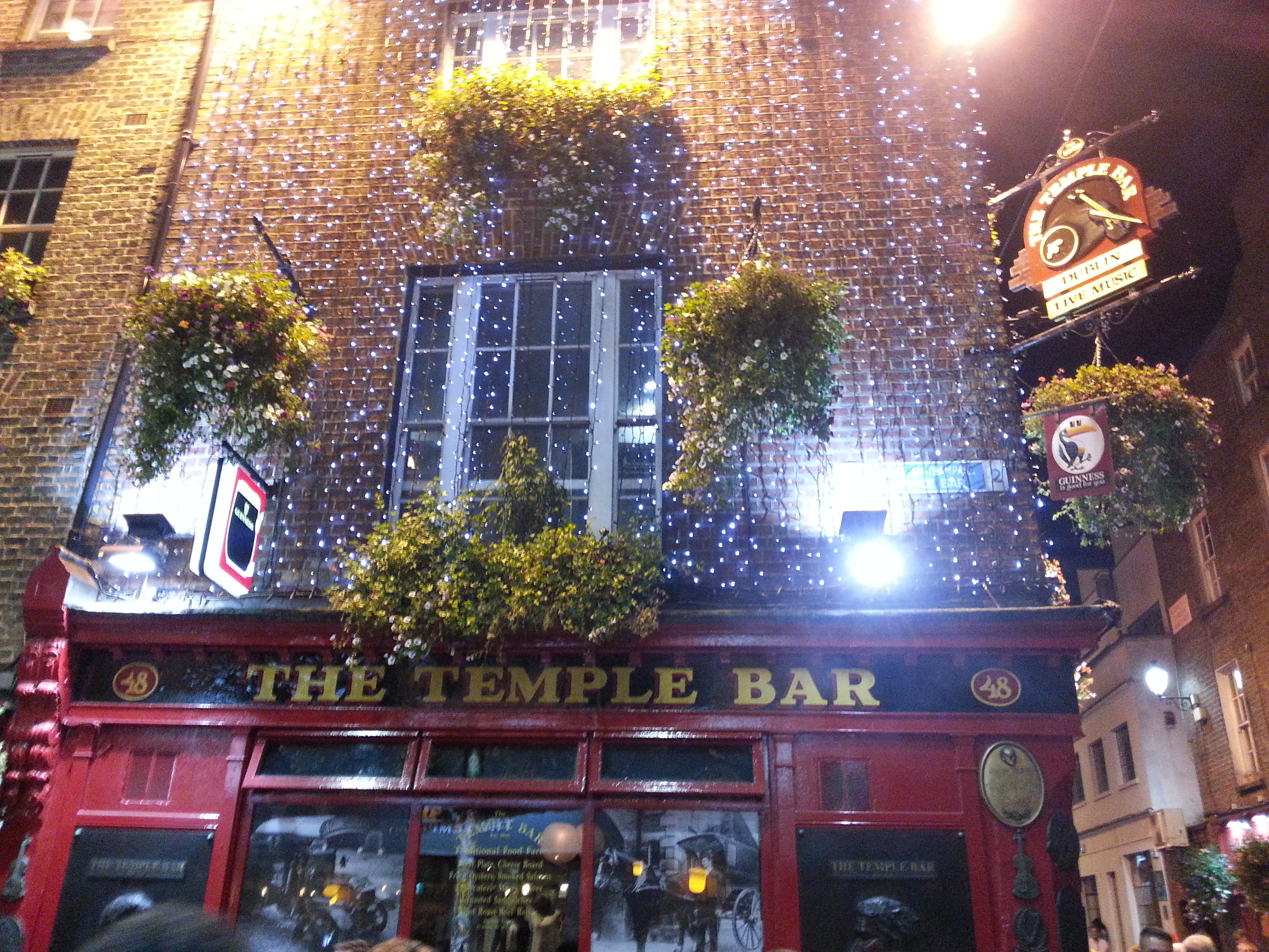 The Temple Bar pub, one of the most popular pubs in Dublin centre