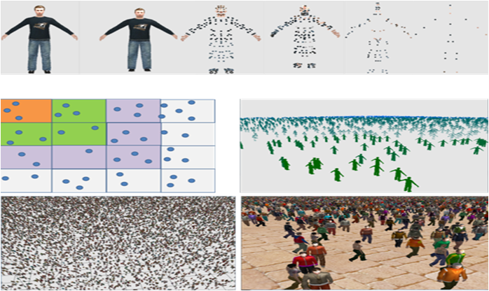 Monte Carlo and Deep Learning Methods for Enhancing Crowd Simulation