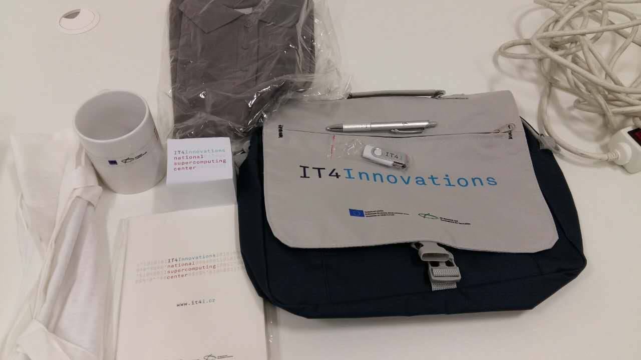 Received a nice welcome pack from IT4I