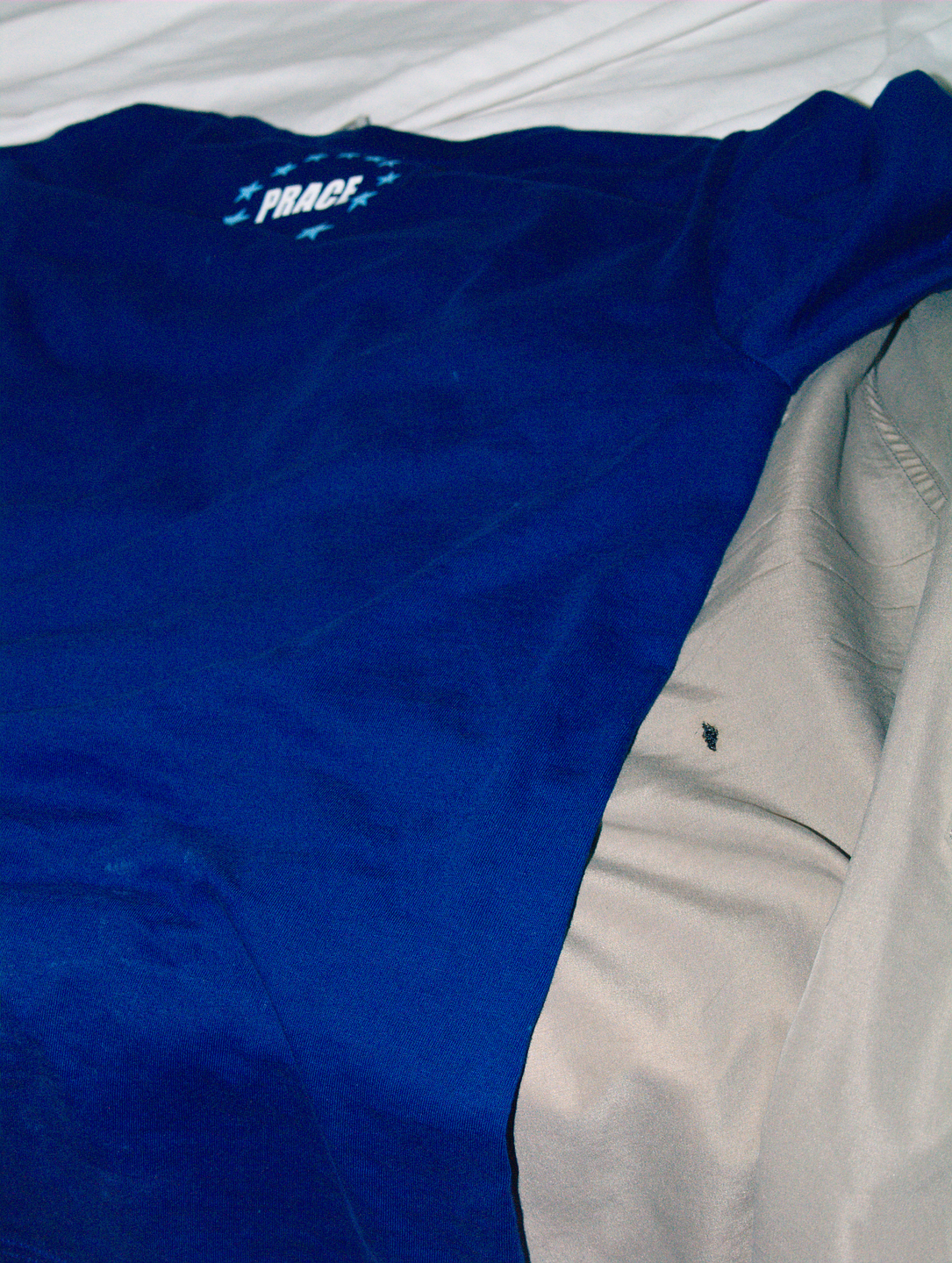 PRACE shirt and shorts after fireworks.