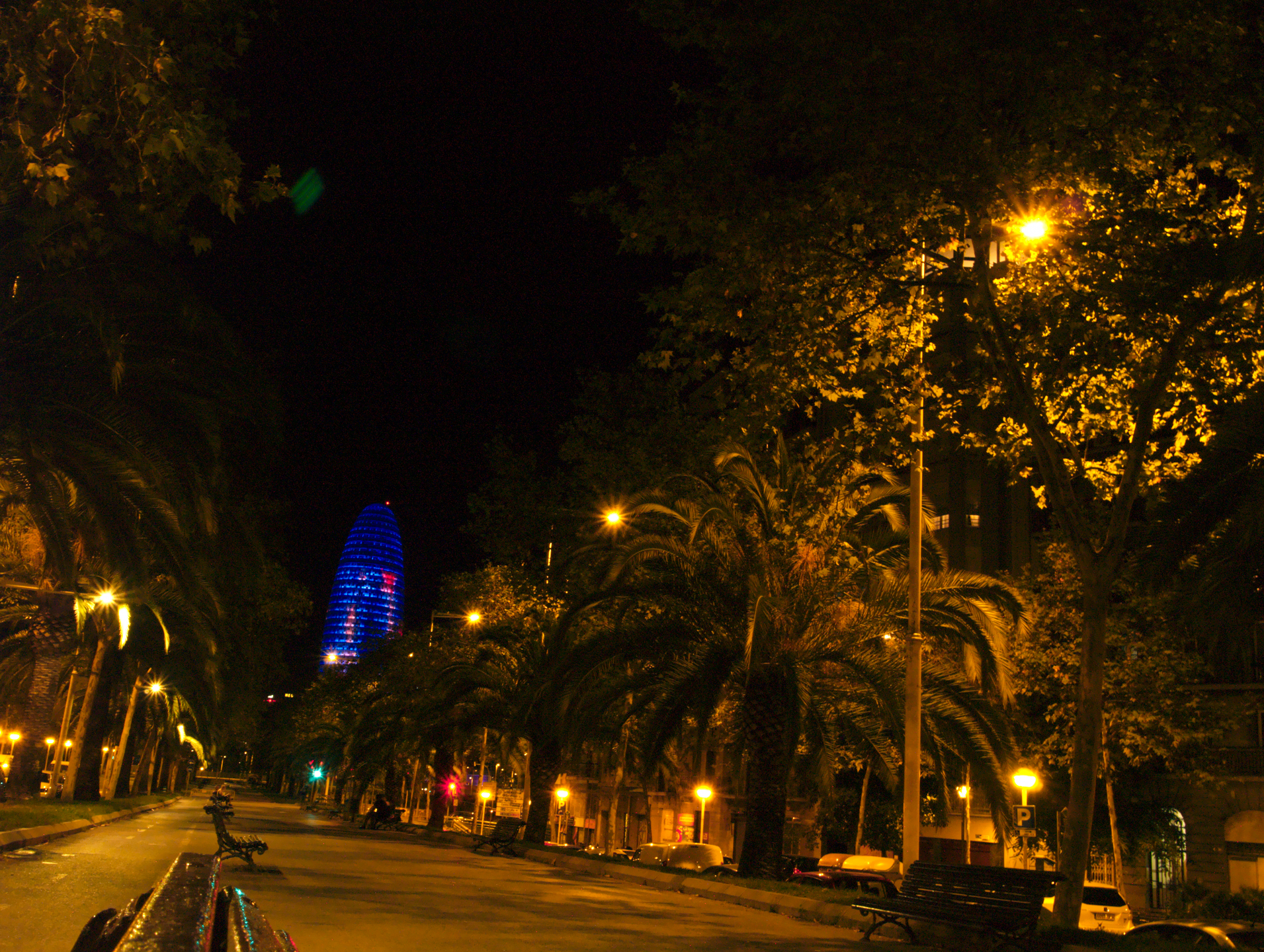 View of Torre Agbar from Av. Diagonal