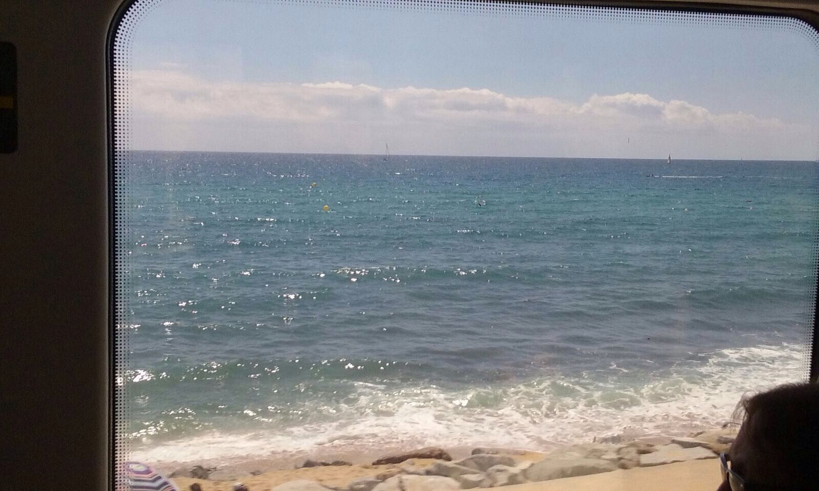The sea through the train window
