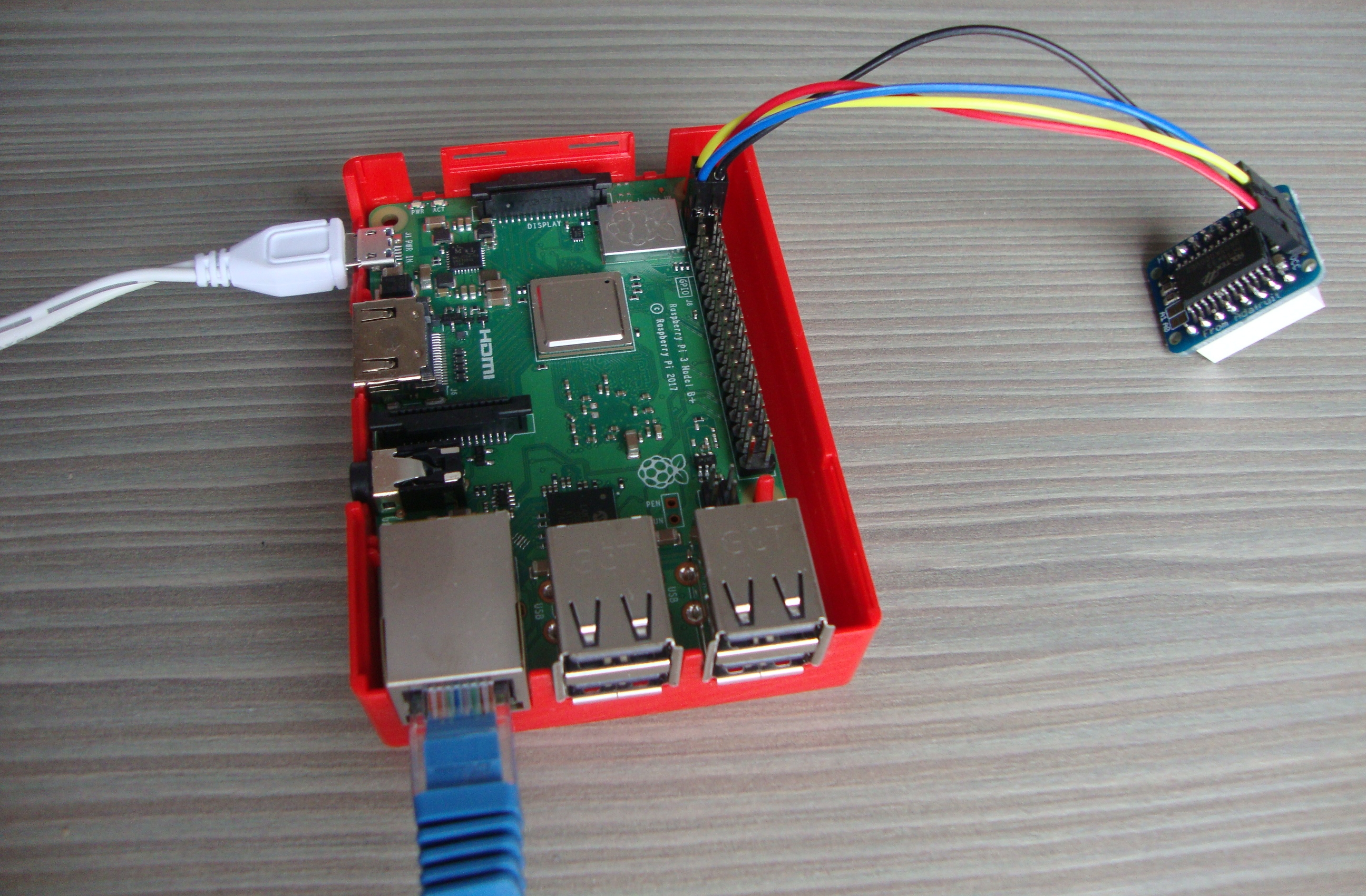 Blog Archives Prace Summer Of Hpc Wiring Diagram Lowe 165 Fm Adafruit Led Matrix Backpack Connected To A Raspberry Pi