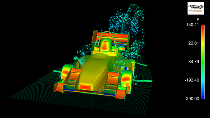 Computational Fluid Dynamics Simulations of Formula Student Car Using HPC