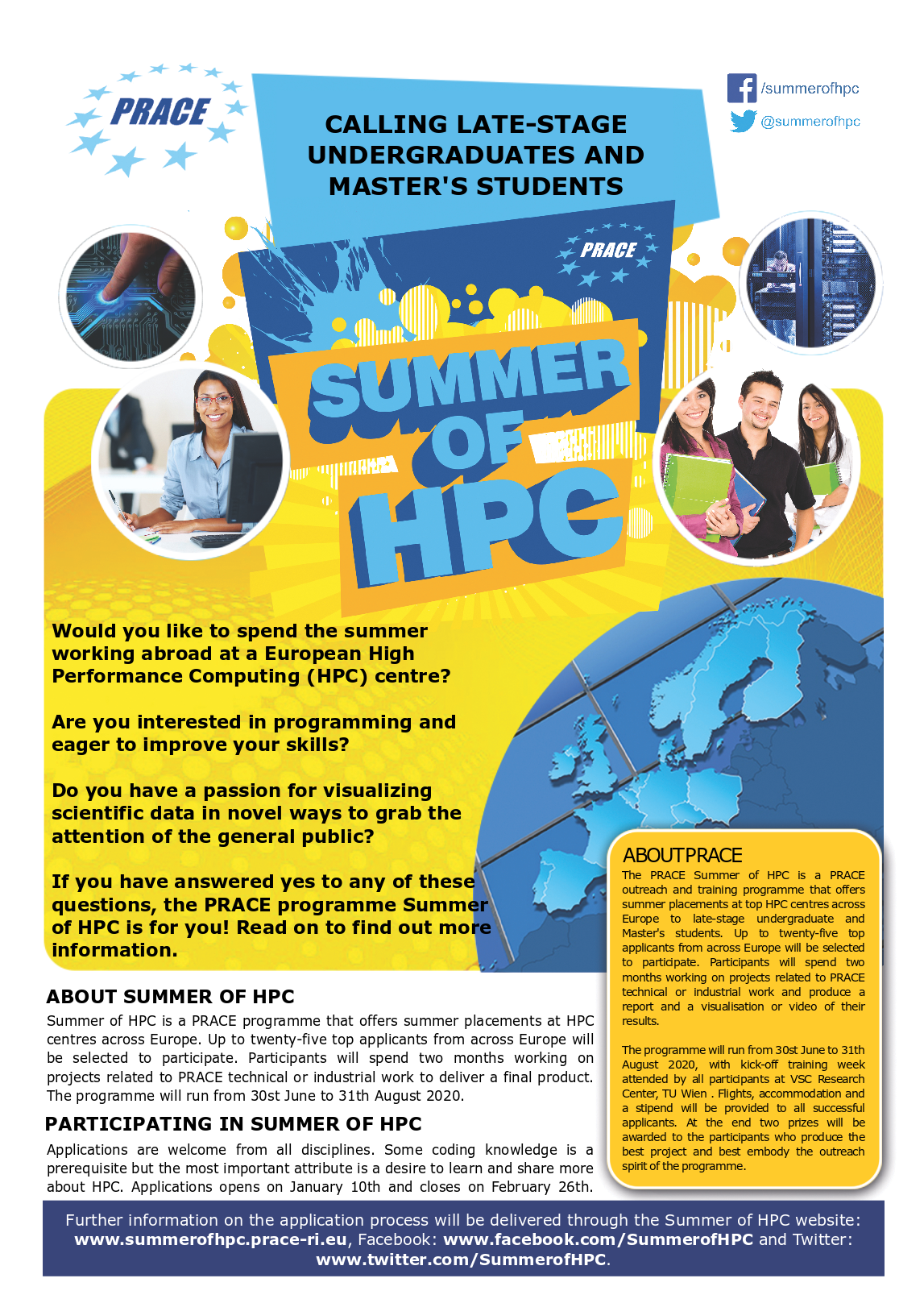 PRACE summer of HPC 2020 opens applications